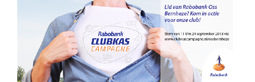 11 t/m 24 september | Rabobank Clubkas Campagne | Stem door op de deze afbeelding te klikken.